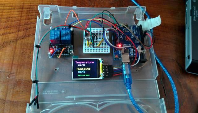 Montage Arduino / DHT22 / relais / TFT1.8
